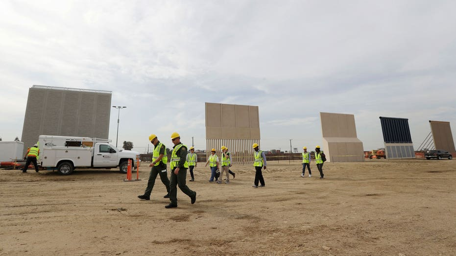 Border wall prototypes AP FBN