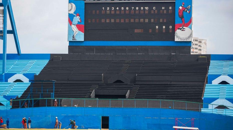 Cuba baseball stadium outfield FBN