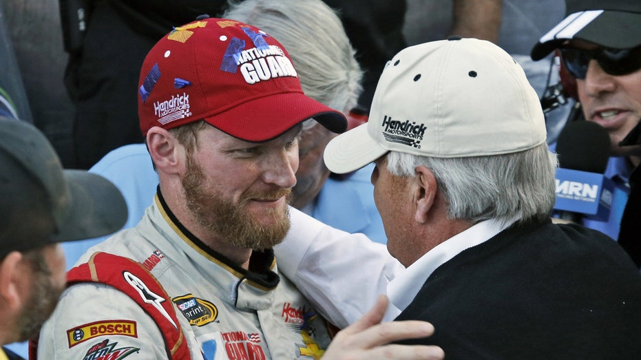 Dale Earnhardt Jr. with Rick Hendrick FBN