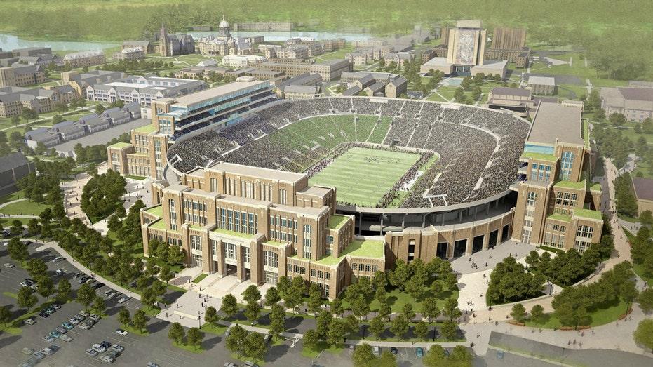 Notre Dame Stadium rendering FBN