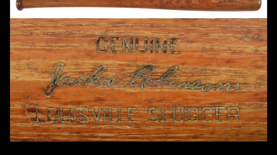 Jackie Robinson bat auction FBN