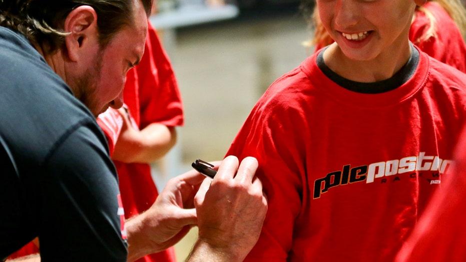 Kurt Busch autograph NASCAR FBN