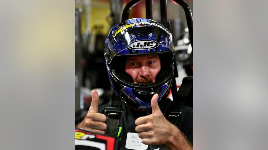Kurt Busch thumbs up NASCAR FBN
