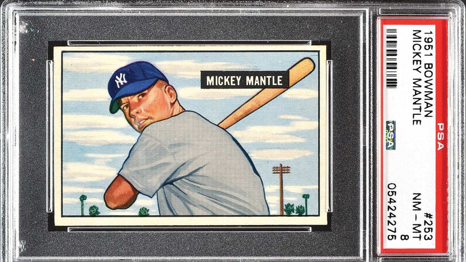 Mickey Mantle card auction FBN