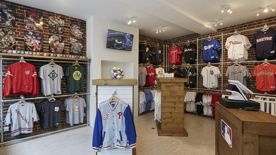 MLB London store inside FBN