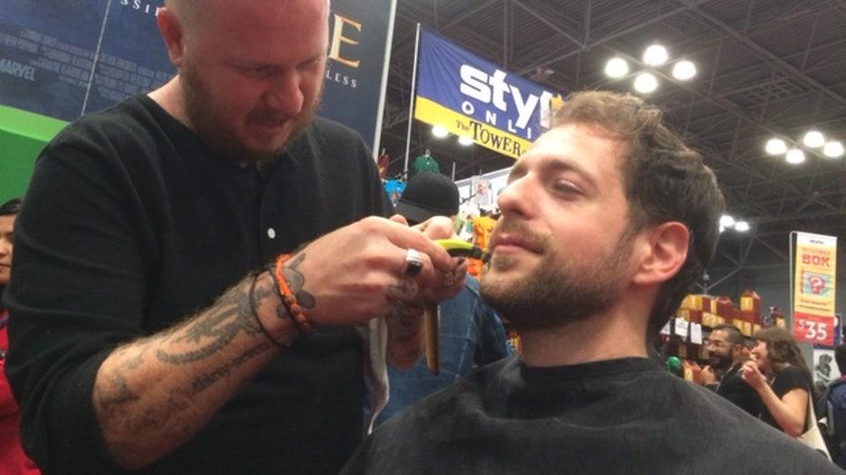 shaving, comic con