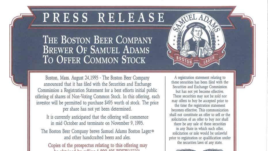 Sam Adams Stock 1995 FBN