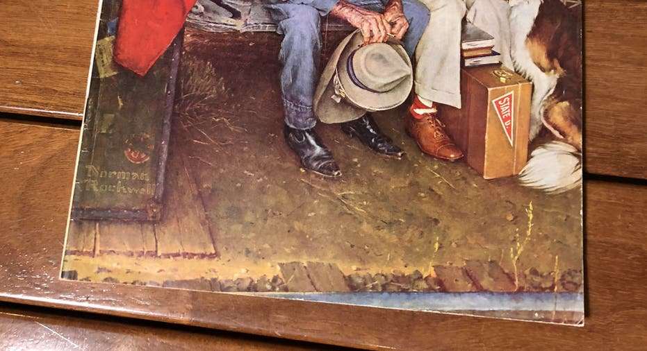 Norman Rockwell Print Father And Son BREAKING HOME TIES