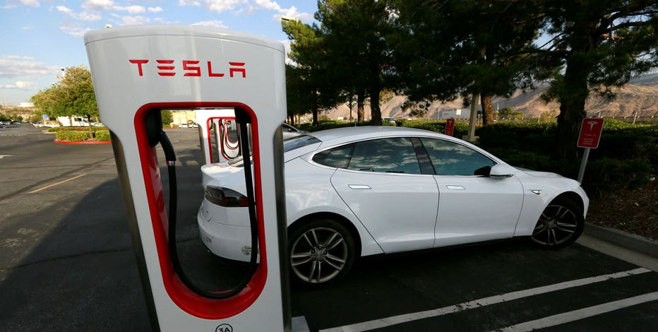 A Tesla Model S Charges At Supercharger Station In Cabazon California U May 18 2016 Reuters Sam Mircovich File Photo