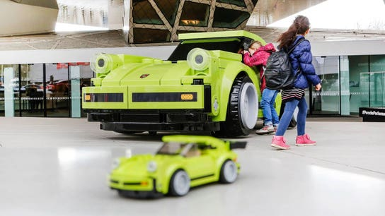Porsche built a life-sized 911 Turbo out of giant Legos