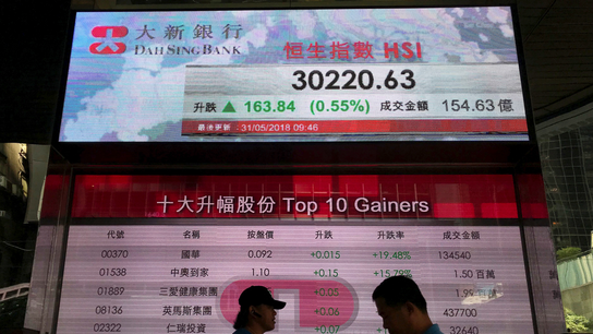 Asian and European shares rise on promising Chinese data