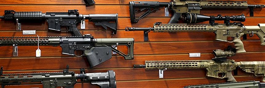 GUN STOCKS DROP AS TRUMP CONFIRMS CONGRESS WANTS TIGHTER BACKGROUND CHECKS