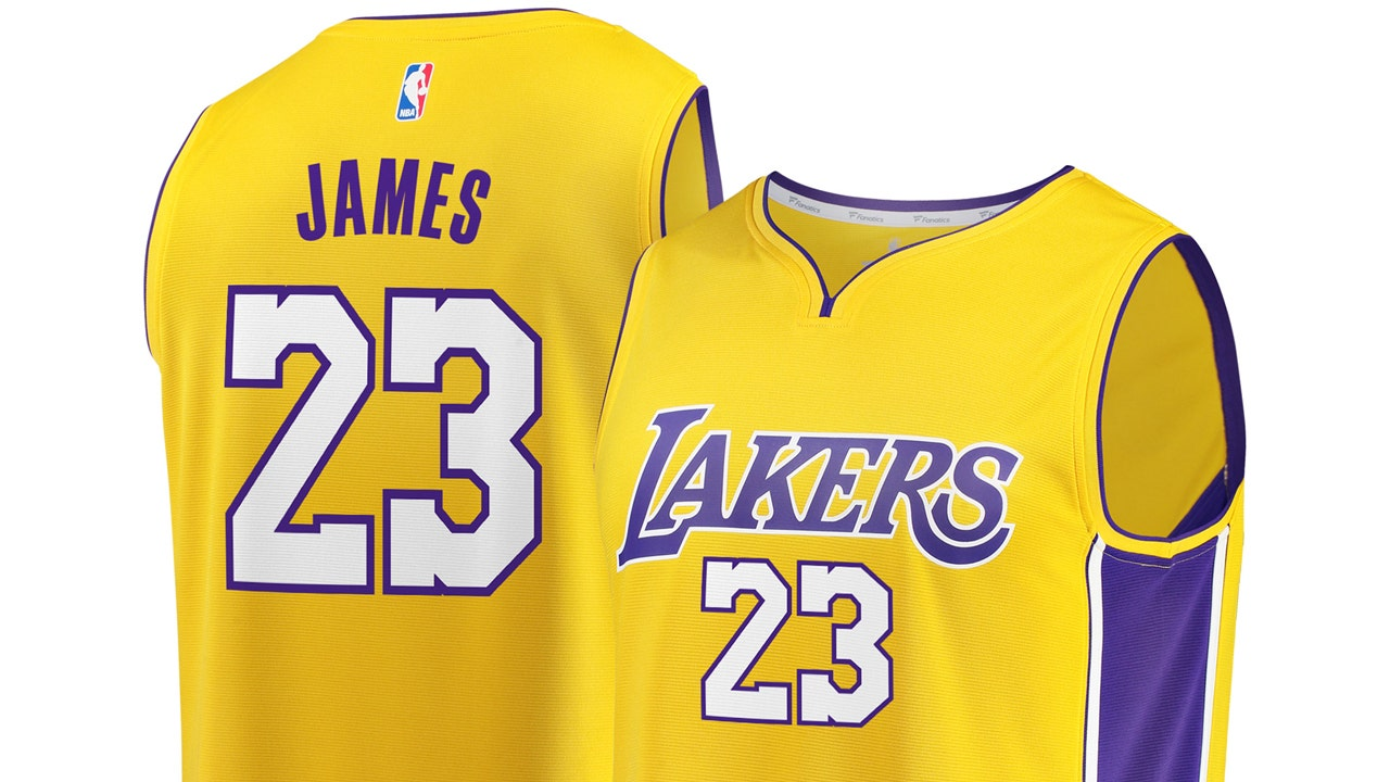 LeBron James jersey sales booming after Lakers signing   Fox
