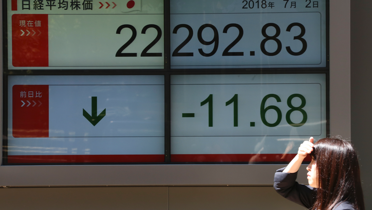 World stocks fall, haunted by concerns over US-China tariffs