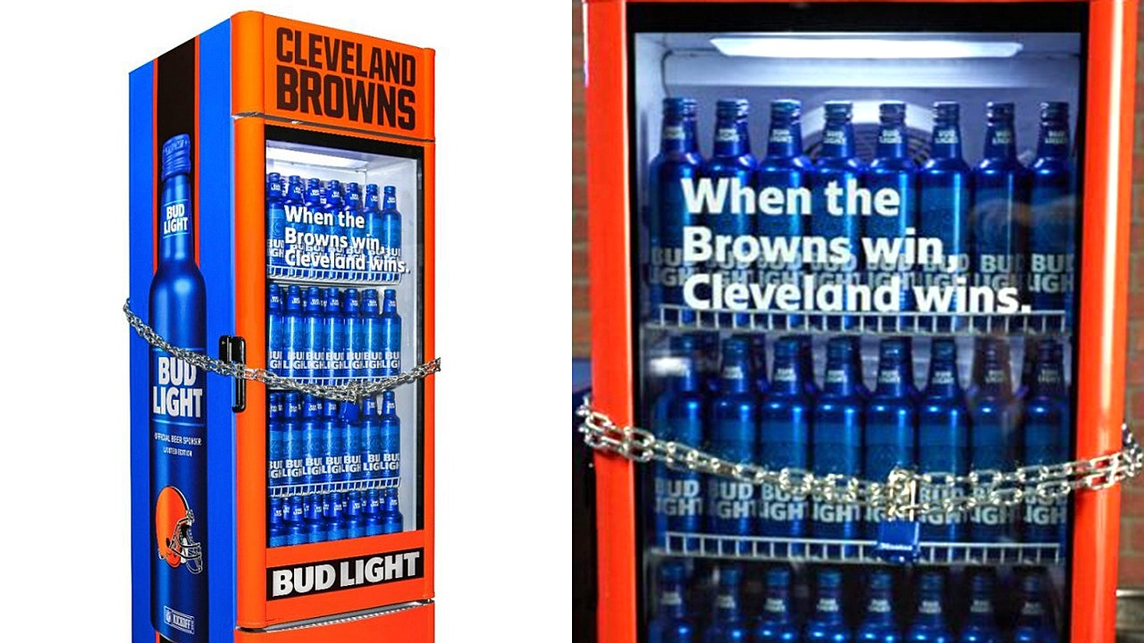 Cleveland Browns Win Unlocks Bud Light Smart Fridges All At Once | Fox  Business