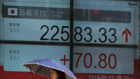 Global stocks mostly higher ahead of US jobs report