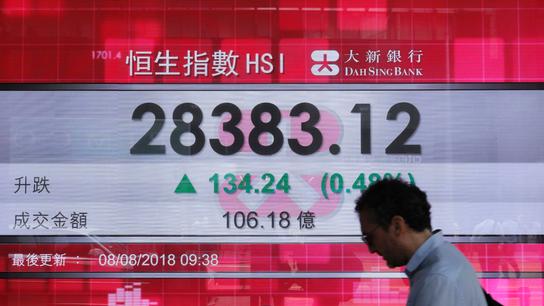 World stocks edge up amid corporate news, US-China spat