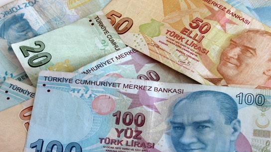 US stocks lower as investors eye developments in Turkey