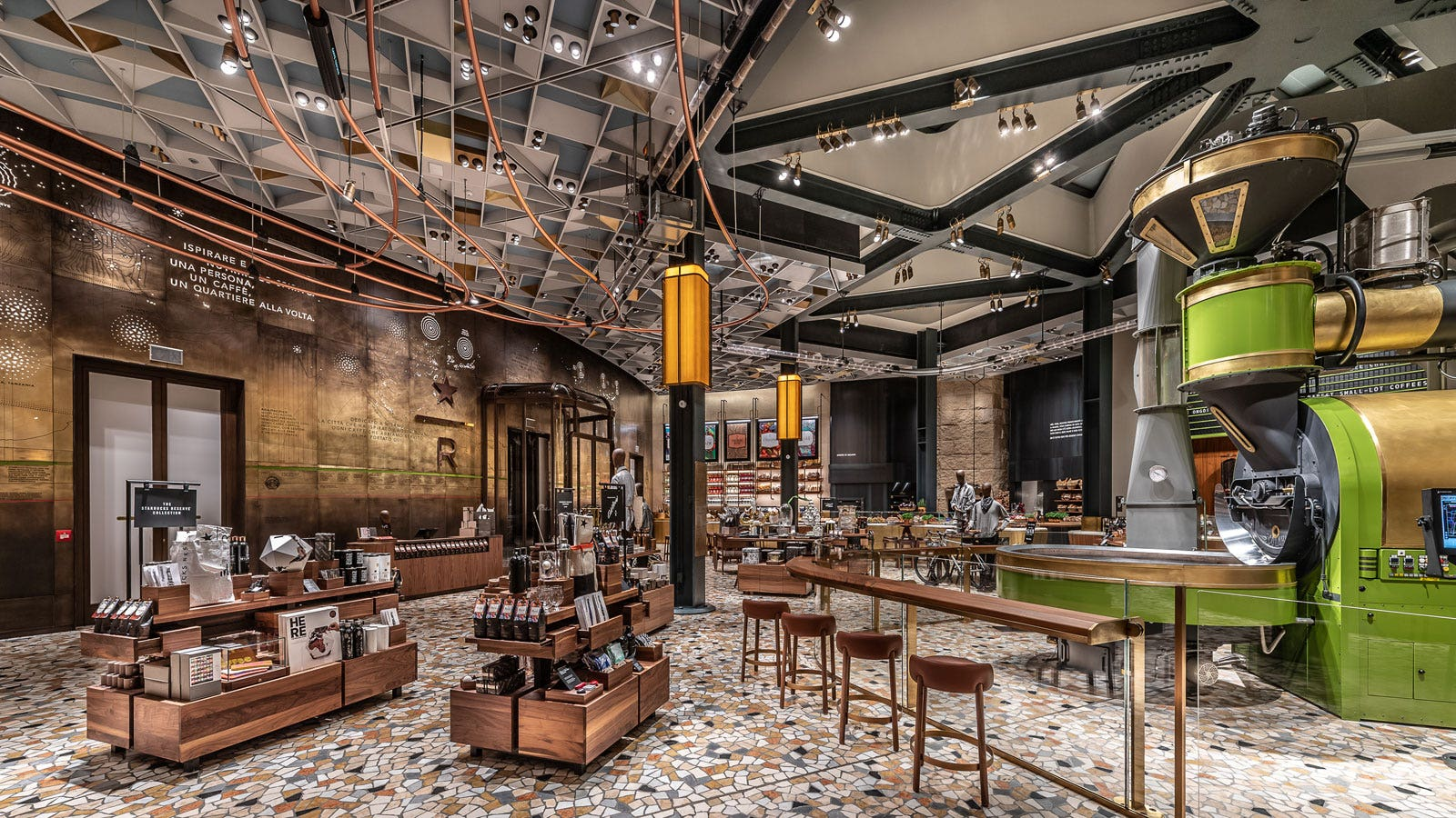 Starbucks 39 first store in italy will serve pizza and for Industrial designer milano