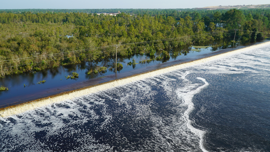 Floodwaters inundate lake at NC power plant, raising alarm
