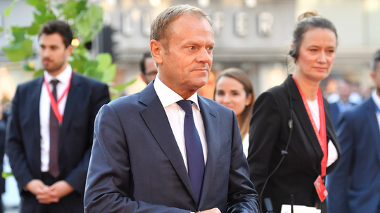 The Latest: EU's Tusk says Brexit compromise still possible