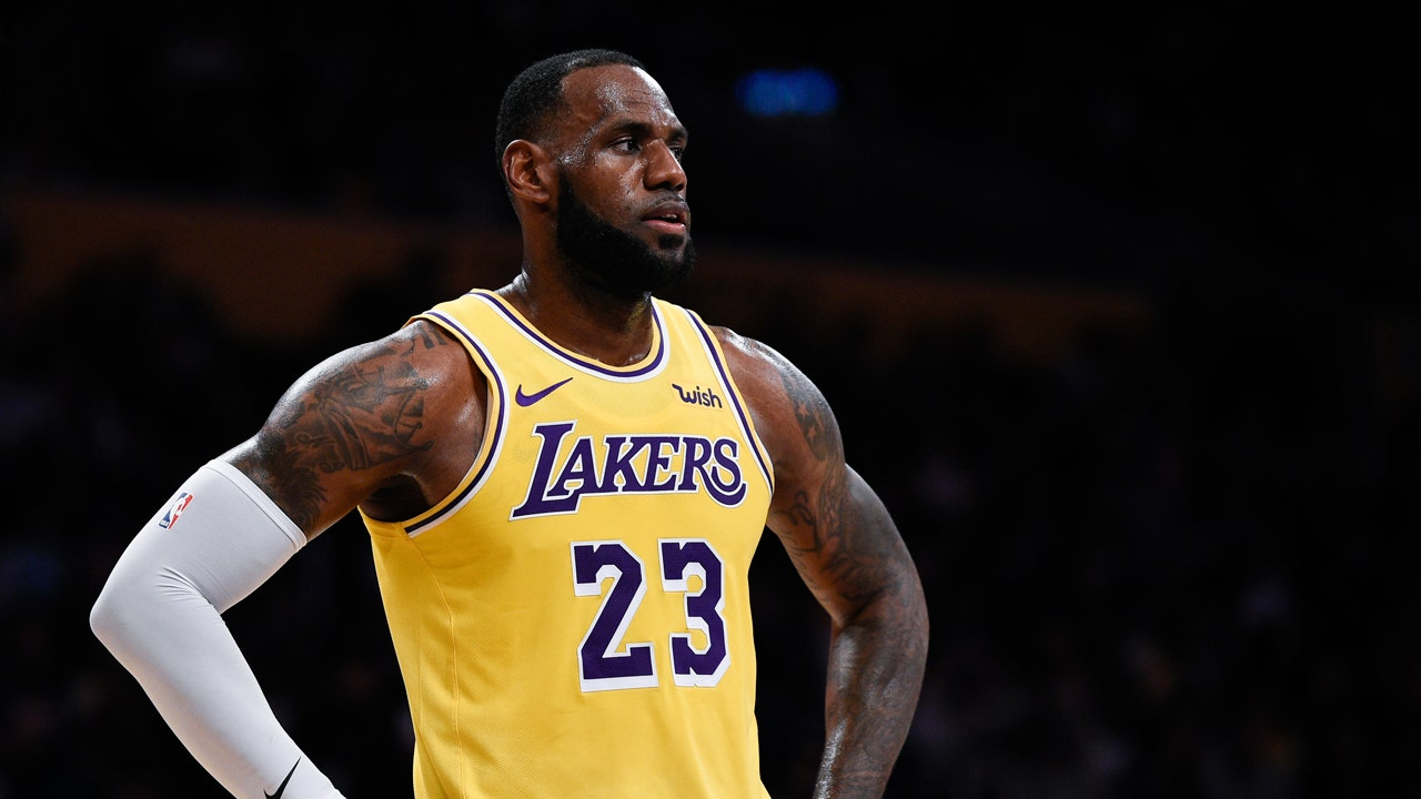 classic fit c7fe4 c8580 LeBron James' Lakers debut generates merchandise, ticket ...