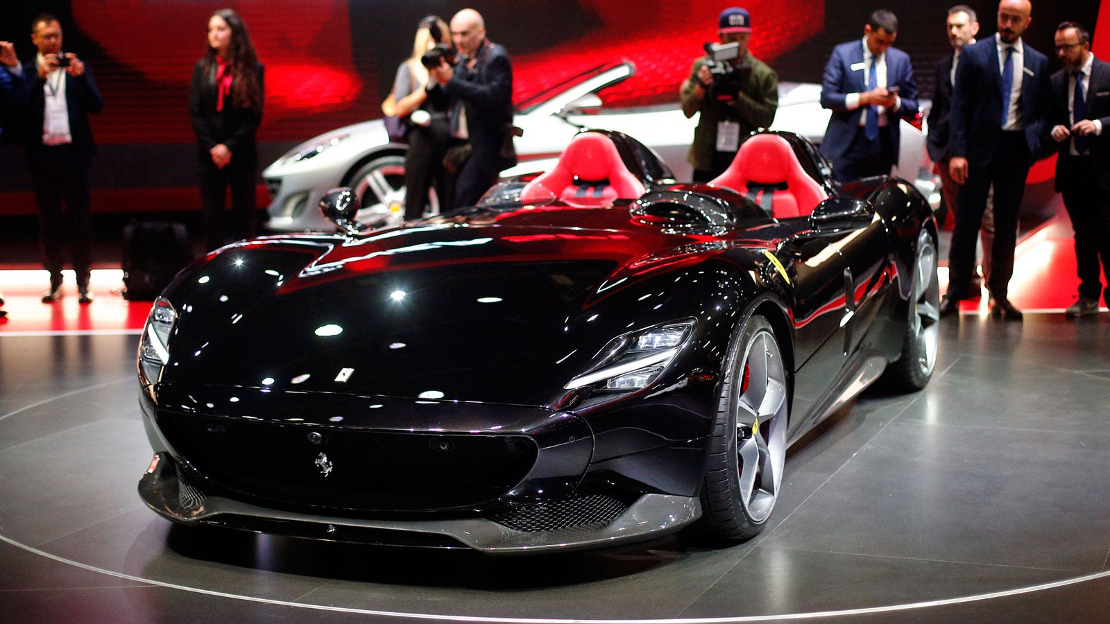 Paris Motor Show Ferrari BMW And Bugatti Bring New Sports Cars - Ferrari car show