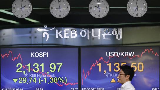 World markets tumble ahead of US earnings reports
