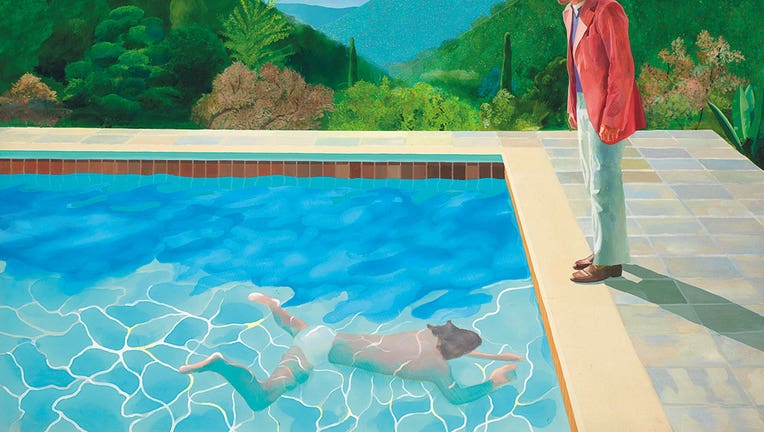 Hockney painting breaks auction record at $90.3 mln