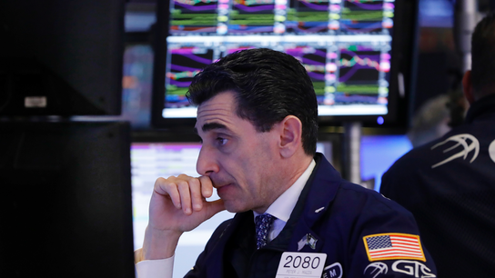 US stocks are mostly lower as banks and retailers fall