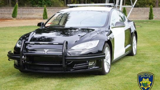 California police dept. adds Tesla electric car to patrol fleet, touts gas savings