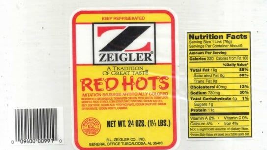 RL Zeigler recalls 5.8 tons of sausage due to metal bits