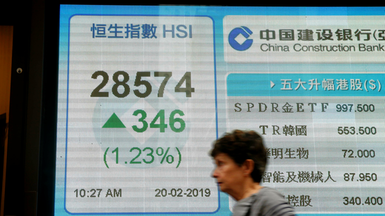 World shares mostly higher on upbeat talk on China-US trade