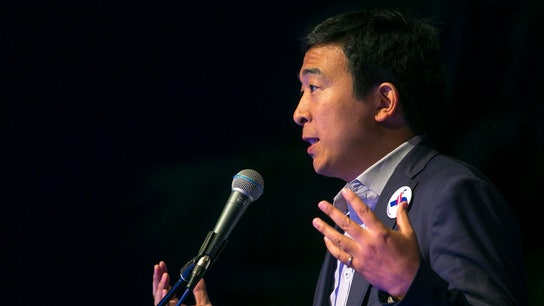 Andrew Yang slams Amazon over tax payments as he promotes UBI