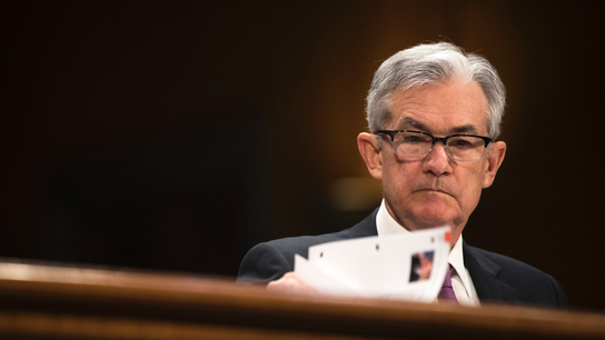 The Latest: Powell not worried about federal debt yet