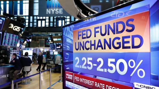 Fed news sends bond yields sharply lower; US stocks mixed