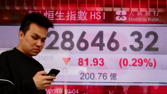 Asian shares fall after US stumble, eying China trade talk