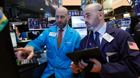 Markets Right Now: Better economic news sends stocks higher