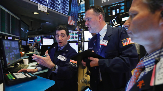 Markets Right Now: Stocks end lower as insurers fall