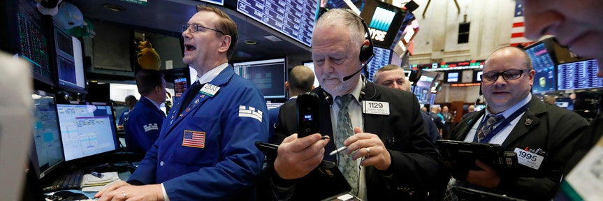 Dow tops 27,000 as Wall Street surges after Powell signals rate cut