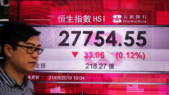 Asian stocks mixed after Wall Street fall on Huawei anxiety