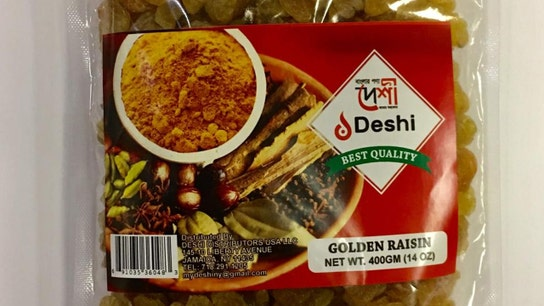 Deshi Distributors issues recall for certain 'golden raisins' packages due to 'undeclared sulfites': officials