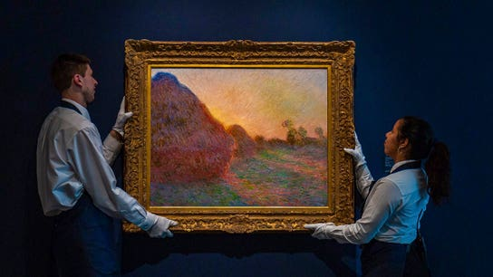 Monet haystack painting at Sotheby's sells for record-breaking amount