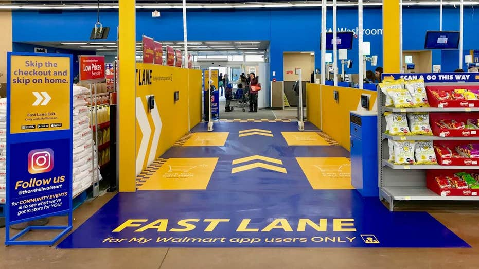 Walmart tests new 'fast lane' checkout system to give