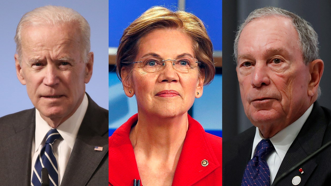 Image result for Warren, Biden, Bloomberg""