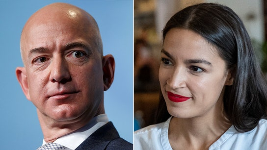 Ocasio-Cortez's feud with Amazon over 'starvation wages' continues: 'People need to be paid a living wage'