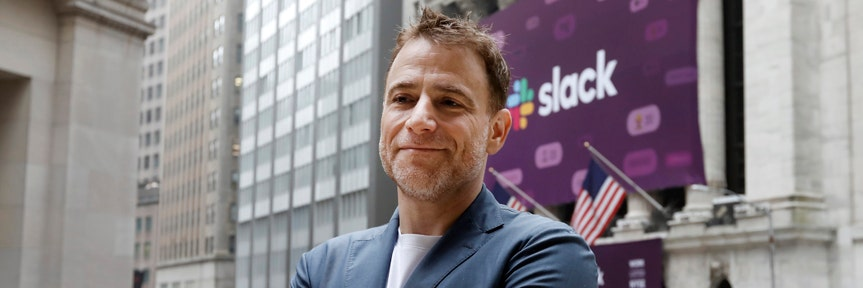 Slack shares jump nearly 50% in NYSE debut