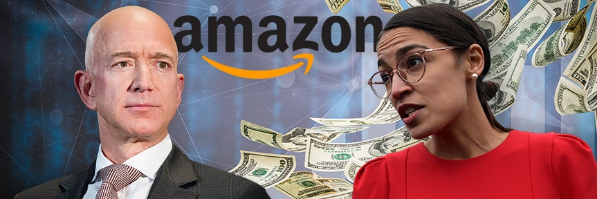 Ocasio-Cortez criticizes Amazon's Bezos for paying workers 'starvation wages'