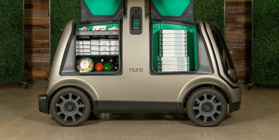 Domino's and Nuro will test autonomous pizza delivery using the custom unmanned vehicle known as the R2 in Houston
