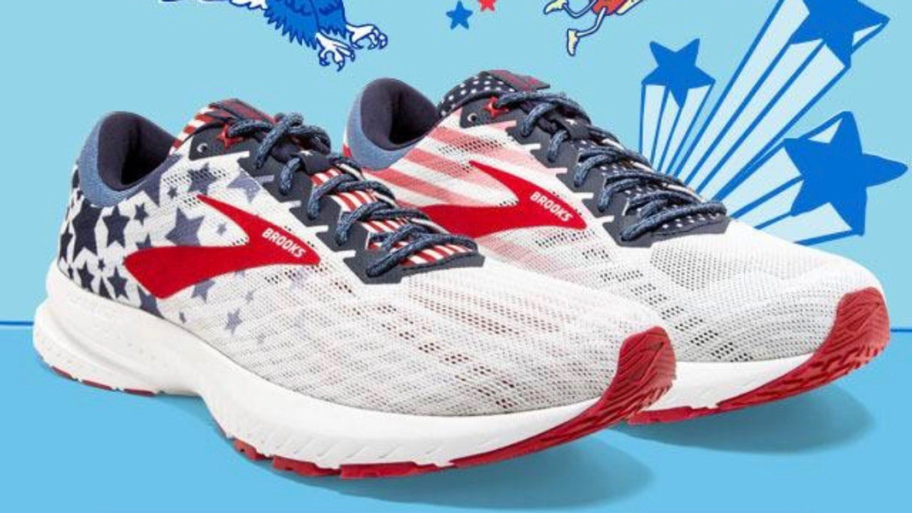 Image result for Brooks Running selling limited-edition American flag shoe